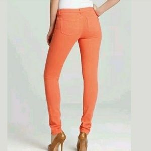 Michael Kors Skinny Stretch Jeans Orange